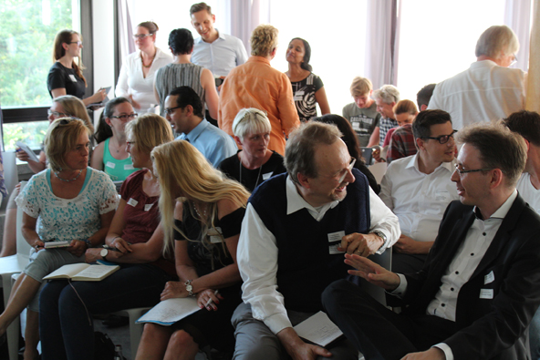 Participants engaged in delightful manner in the Networking workshop June 2017 in Frankfurt